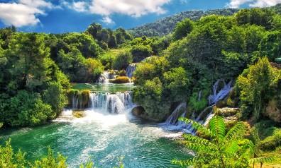 Chorwacja wodospad w parku Krka